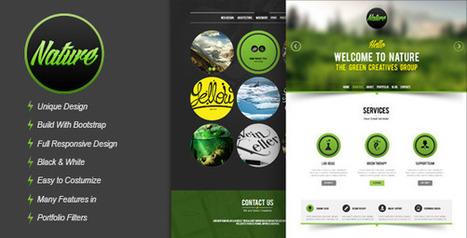 Nature Responsive HTML5 Onepage Template Download | PremiumTemplatesDownload | HTML5 and JQuery | Scoop.it