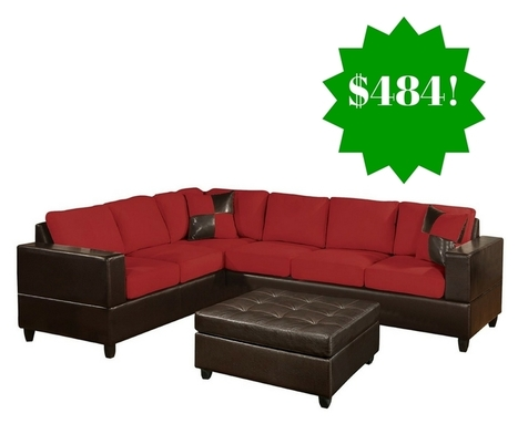 Amazon: Bobkona Trenton 2-Piece Sectional Sofa Only $484 | Grocery List Savings | Scoop.it