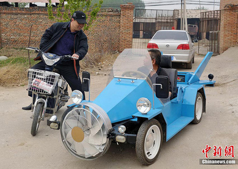 Chinese Farmer Builds Wind-Powered Car | Strange days indeed... | Scoop.it