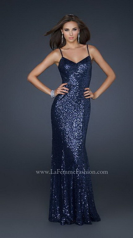 Navy Long Sequined 17645 Sexy V Neck Evening Gown [La Femme 17645 Navy] - $201.98 : Cheap Prom Dresses & Homecoming Dresses For Sale Online | long prom dresses | Scoop.it