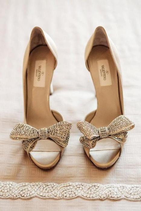 Twitter / WeddingCatcher: Valentino bow wedding shoes ...   Monica qb wedding   Scoop.it