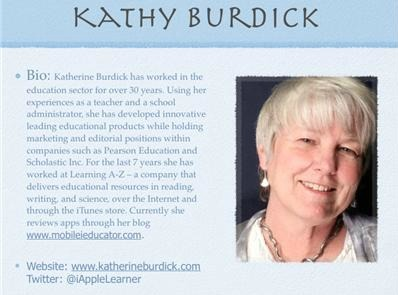 Mobile Learning Interview with Kathy Burdick | Technology in Education | Scoop.it