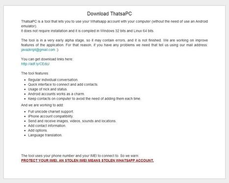ThatsaPC: Ejecuta WhatsApp en el PC sin necesidad de emuladores de Android | emoises | Scoop.it