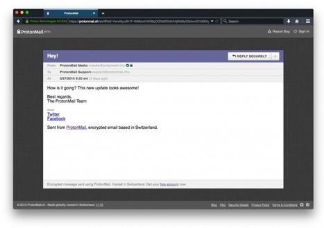 ProtonMail BETA v1.15 Release Notes - ProtonMail Blog | Société de surveillance | Scoop.it