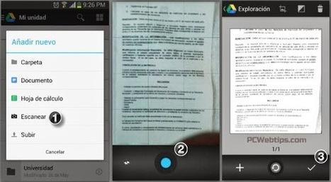 Como Escanear Documentos en Android con Google Drive PCWebtips.com   Android - Aplicaciones y Tips   Scoop.it
