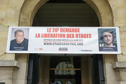 Le 20ème arrondissement soutient les otages français en Syrie | Paris Est Villages | Droits de l'Homme et Compagnie | Scoop.it