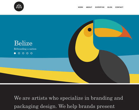 13 Beautiful Examples of Bold Colors in Web Design | Web Design & Development | Scoop.it