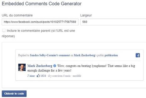 Facebook améliore l'intégration des posts dans les pages Web - Arobasenet.com | Veille numérique e-tourisme | Scoop.it