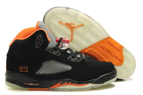 Nike Air Jordan 5 Womens:Color Orange and Black Grey | new and fashion list | Scoop.it