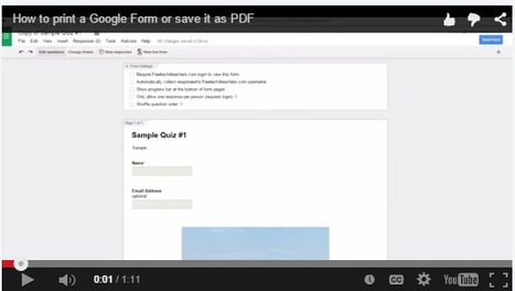 How to Print a Google Form and or Save it as a PDF | Data Management for SEL | Scoop.it