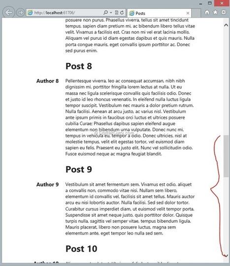 Infinite Scrolling Using ASP.NET Web API Data Service and KnockoutJS | Dynamic UI | Scoop.it