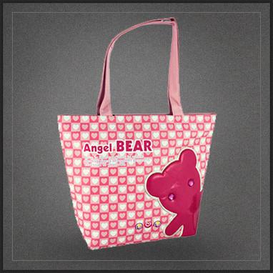 Sac cabas shopping rose Angel Bear | Boutique Muku | Scoop.it