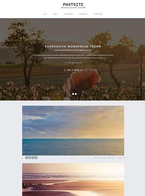 TM Photoite - Responsive Photography WordPress Theme | Free & Premium Joomla Templates and WordPress Themes | Scoop.it