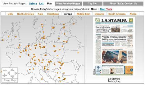 Newseum | Today's Front Pages | Map View | Education aux médias | Scoop.it