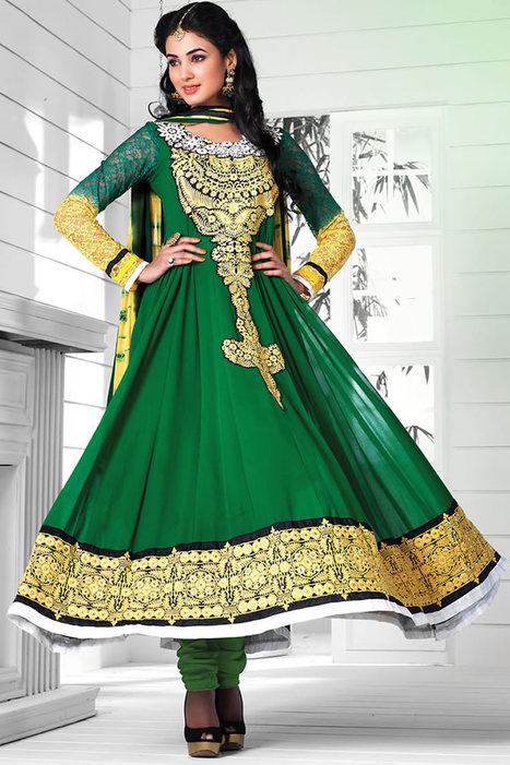 Buy Sonal Chauhan Suits Online | Bollywood Anarkali Salwar Kameez | Scoop.it