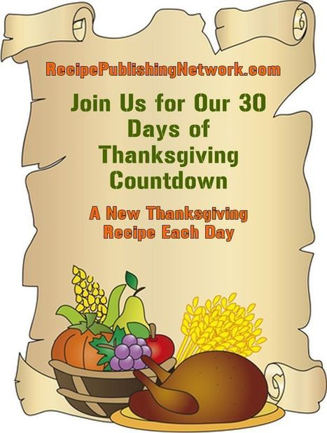 30 Days of Thanksgiving Countdown | American Food | Scoop.it