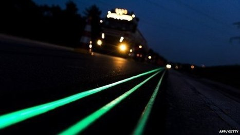 Dutch unveil glow in the dark road | Handling Engineering & Controls | Scoop.it