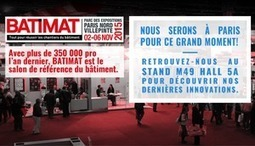 Salon BATIMAT 2015 : participation de Placo® | Saint-Gobain Brands life | Scoop.it