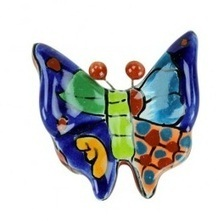 Decorative Mini Talavera Hand Painted Butterfly | Pottery and Furniture | Scoop.it