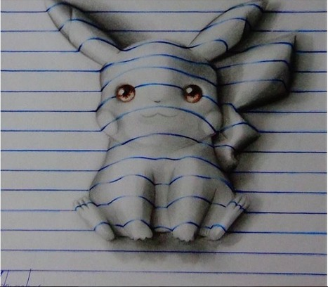 Amazing 3-D Drawings From The Notebook of a 15 Year Old! - Viral Jar | Strange days indeed... | Scoop.it