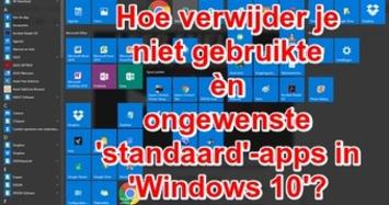Edu-Curator: Hoe verwijder je niet gebruikte èn ongewenste 'standaard'-apps in Windows 10? | Edu-Curator | Scoop.it