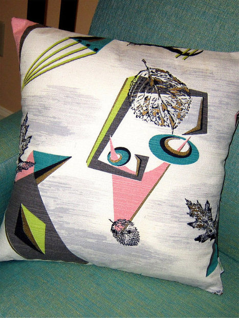 Retro Barkcloth Throw Pillow Cover | Marble Science & Arts | Scoop.it