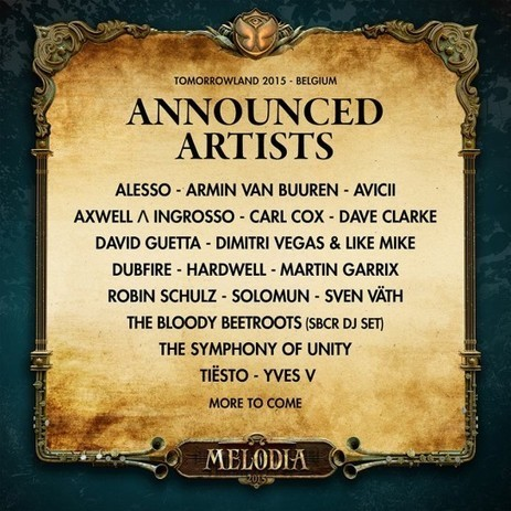 Tomorrowland Belgium Completes Its 'Phase 1' 2015 Lineup | DJing | Scoop.it