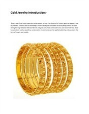 Gold Jewelry Introduction | Yellow Gold Rings - 22k | Scoop.it