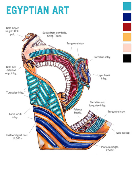 Learn Art History Through 10 Stunning Pairs Of High Fashion Heels | The History of Art | Scoop.it