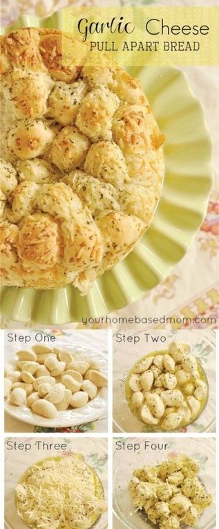 Garlic Cheese Pull Apart Bread - Food And Drink For You | ♨ Family & Food ♨ | Scoop.it