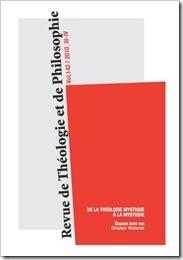 De la théologie mystique à la mystique. Revue de Théologie et de Philosophie n°142 | Philosophie en France | Scoop.it
