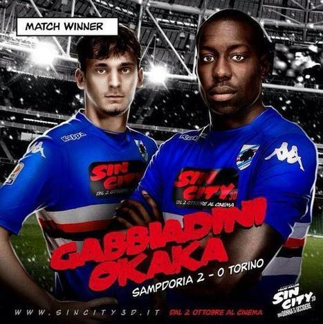 Sin City s'affiche sur le maillot de la Sampdoria de Gênes! | Sponsoring Sportif | Scoop.it