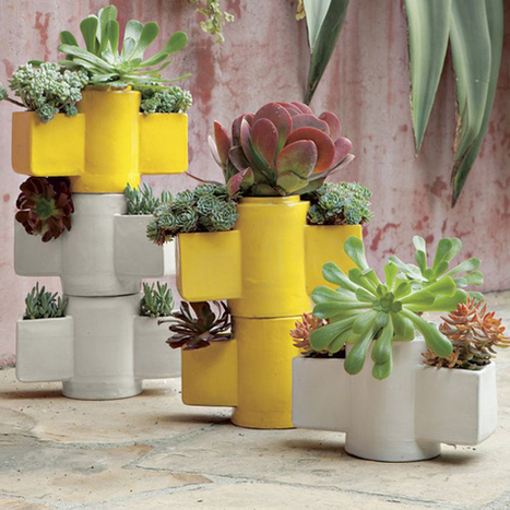 Stackable Totem Planters - Design Crush | nouvelles tendances | Scoop.it