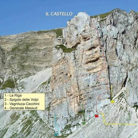 Arrampicare nelle Marche: Spigolo delle Volpi  - Pizzo del Diavolo, Monti Sibillini | Le Marche un'altra Italia | Scoop.it