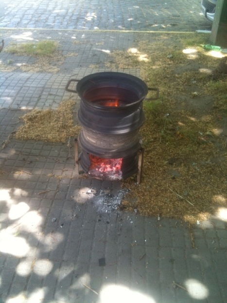 Interesting Idea: Wood stove made with tire rims | sustainablehomes | Scoop.it
