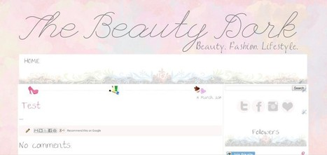 Blogger Theme: The Beauty Dork | Butterfly-o-Meter Designs | Blogger themes | Scoop.it