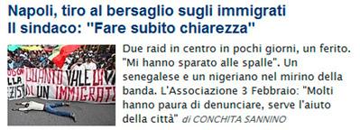 Tiro al inmigrante, el peligroso juego de moda en Nápoles | Derechos Humanos y Jurisdicción Universal | Scoop.it