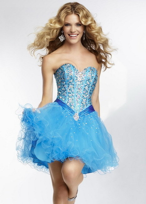 A Line Blue Silver Beaded Strapless Ruched Cocktail Dress [Mori Lee 9261 Blue] - $155.90 : 2015 Prom Dresses, 60% off Girls Homecoming Dresses Outlet | prom dresses | Scoop.it