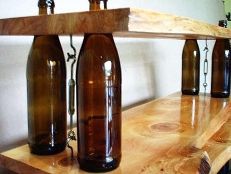 DIY Wine bottles shelves | BricoService - Manutenzioni residenziali | Scoop.it