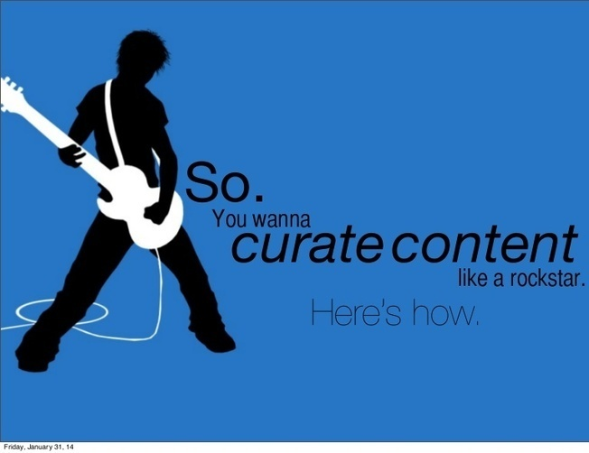 10 tips to curate like a rockstar