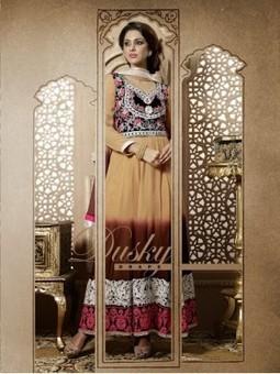 Vikruti Beige And Brown Georgette Designer Anarkali Suit 9791 | Watches | Online Watch | Online Shopping | Scoop.it