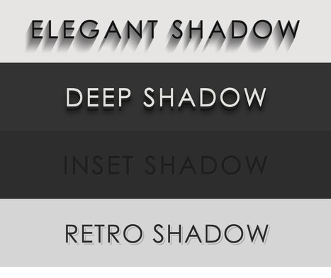 CSS3 text-shadow effects - CodePen | irving | Scoop.it