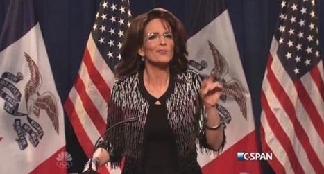 Tina Fey absolutely nails it on SNL as 'crazy' Sarah Palin endorsing Donald Trump | Vloasis humor | Scoop.it