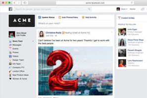 Réseau social d'entreprise : Facebook lance son Facebook at Work | La curation en communication web | Scoop.it