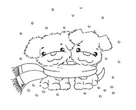 Sliekje digi Stamps: Cosy winter puppy's | Artistic Line Designs-all free | Scoop.it