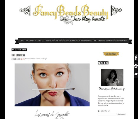 FancyBeadsBeauty : INTERVIEW | Revue de Presse Les Envies de Georgette | Scoop.it