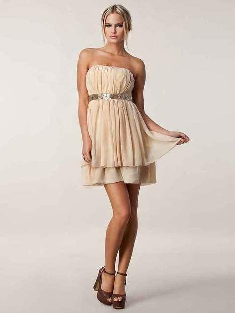 Empire Strapless Chiffon Short/Mini Sleeveless Beading Party Dresses at sweetquinceaneradress.com | SWEET 16 DRESSES | Scoop.it