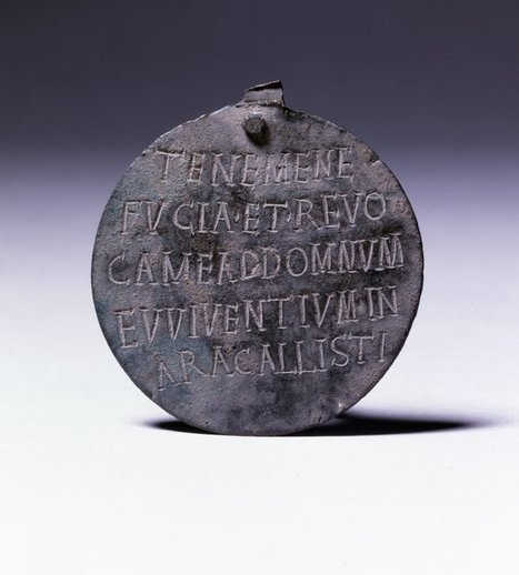 """Ancient Roman Dogtag, Inscription Reads:""""Hold me... 