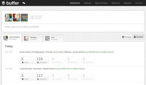 Buffer - A Smarter Way to Share on Social Media | Best Webtools to live in the Cloud | Scoop.it