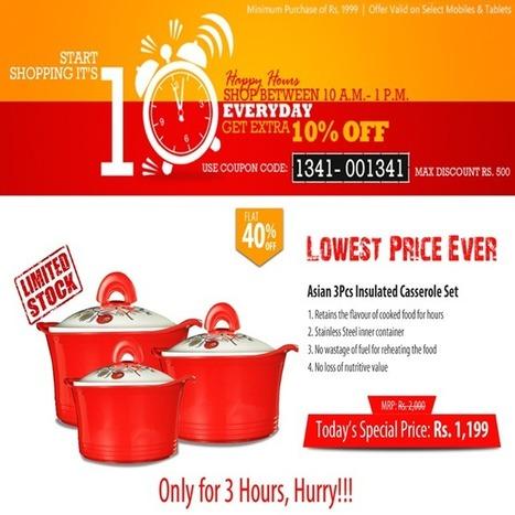 Get Top Deals: STAR CJ Alive best deals on Asian 3 Pcs Insulated Casserole Set   offersmania.in   Scoop.it
